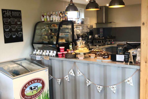 J & J Alpacas food display and counter