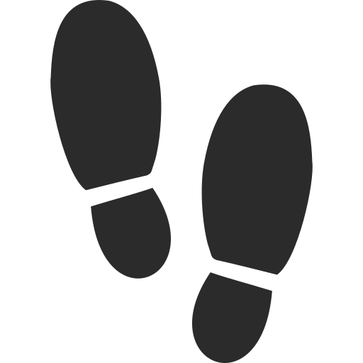 footsteps-silhouette-variant icon