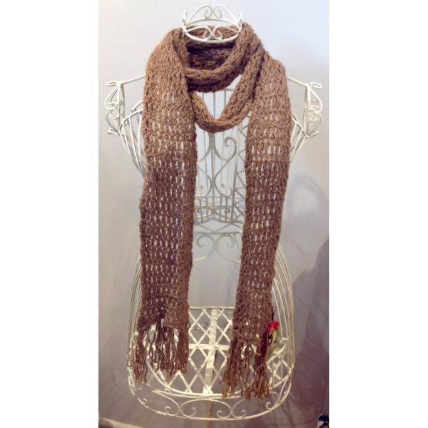 Holey Tassel Scarf in Dream