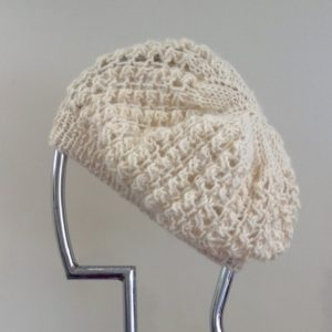 Lacey Beret in Apricot & Chase