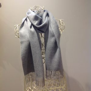 Woven Scarf in Light Grey